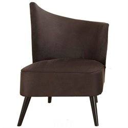 Armen Living Elegant Right Flaired Back Accent Chair in Black