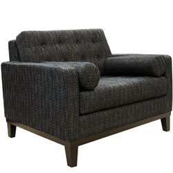 Armen Living Centennial Fabric Accent Chair in Charcoal