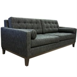 Armen Living Centennial Fabric Sofa in Charcoal