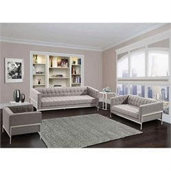 Armen Living Andre Sofa in Gray