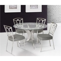 Armen Living Drake Dining Chair in Gray (Set of 2)