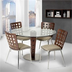 Armen Living Elton Glass Dining Table