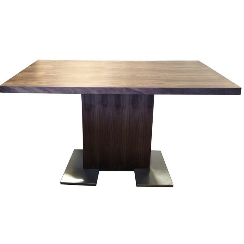 lowprice armen living zenith wood rectangular dining table in brown