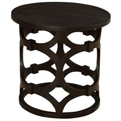 Armen Living Tuxedo End Table in Brown