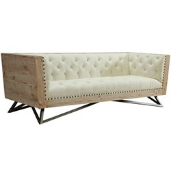 Armen Living Regis Sofa in Cream