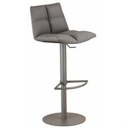 Armen Living Roma Adjustable Metal Swivel Bar Stool in Gray