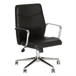 Armen Living Viken Contemporary Office Chair in Black