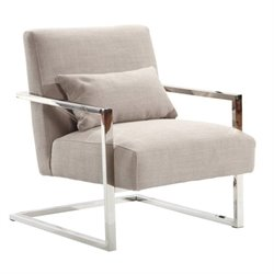 Armen Living Skyline Fabric Accent Chair in Gray