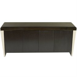 Armen Living Chow Marble top Buffet Table in Black