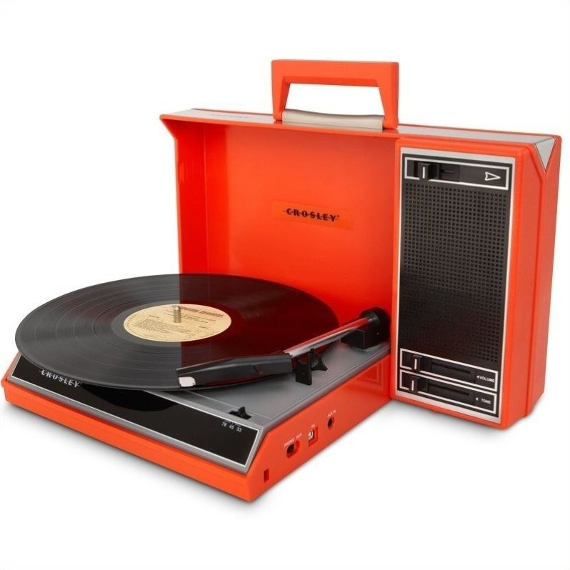 Crosley Radio Spinnerette Portable USB Turntable in Red