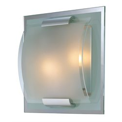 Lite Source Delano 2 Light Vanity Light in Frost