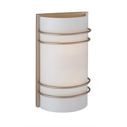 Lite Source Strokes 2 Light Vanity Light in Satin Steel