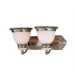 Lite Source Carter 2 Light Vanity Light in Antique Brass