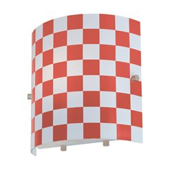 Lite Source Checker Vanity Light in Red Check