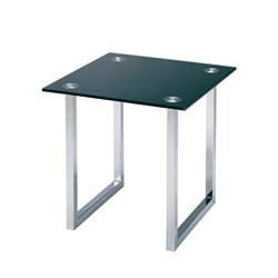 Lite Source Dane Square Glass Top End Table in Chrome