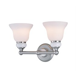Lite Source Princeton 2 Light Vanity Light in Frost