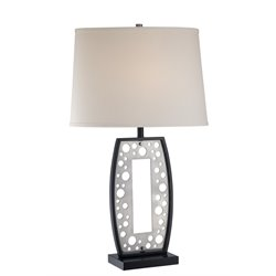 Lite Source Kefften Table Lamp in Black and White