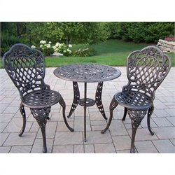 Oakland Living Tea Rose Cast Aluminium 3 Piece Set