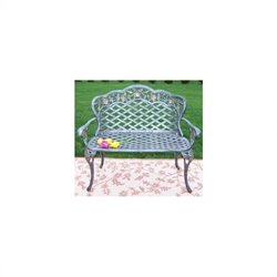Oakland Living Tea Rose Cast Aluminium Loveseat in Antique Bronze