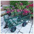 ADD TO YOUR SET: Oakland Living Utility Metal Garden Cart with 500 lb Capacity in Green