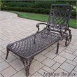 ADD TO YOUR SET: Oakland Living Mississippi Chaise Lounge in Antique Bronze