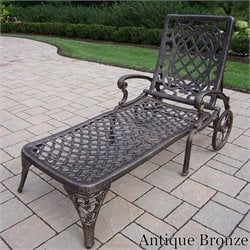 Oakland Living Mississippi Chaise Lounge in Antique Bronze