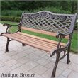 ADD TO YOUR SET: Oakland Living Tea Rose Cast Iron Bench in Antique Bronze