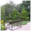 ADD TO YOUR SET: Oakland Living Gothic Arbor with Gate and Base in Hammer Tone Brown