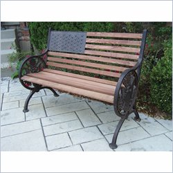 Oakland Living Proud American Bench in Antique Bronze