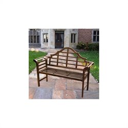 Oakland Living King Louis Outdoor Patio Bench in Antique Bronze