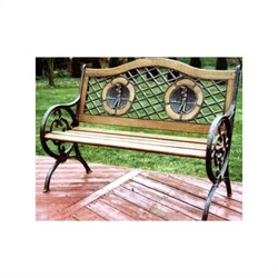 Oakland Living Twin Golfer Bench with Round Legs in Antique Bronze