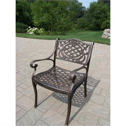 Oakland Living Mississippi Cast Aluminum Arm Chair in Antique Bronze