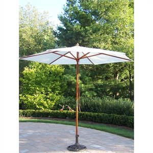 Oakland Living 9 Ft Umbrella with Stand in Antique Bronze