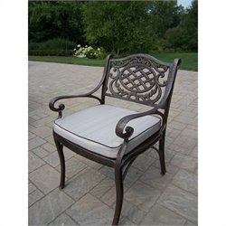 Oakland Living Mississippi Arm Chair with Cushion in Antique Bronze