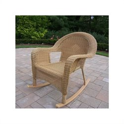 Oakland Living Resin Wicker Rocker in Honey (Set of 2)