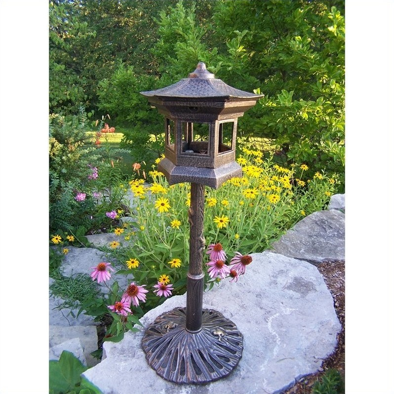 Lantern Bird House in Antique Bronze