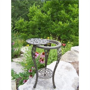 Oakland Living Grape Table Plant Stand in Antique Bronze