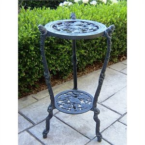 Oakland Living Frog Table Plant Stand in Verdi Grey
