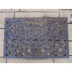 Oakland Living Mississippi Cast Aluminum Doormat in Antique Pewter