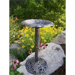Oakland Living Vineyard Bird Bath in Antique Pewter