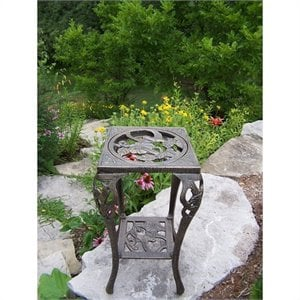 Oakland Living Hummingbird Table Plant Stand in Antique Bronze
