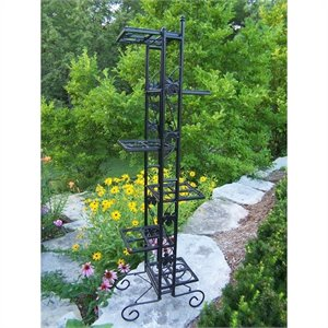 Oakland Living 6 Level Plant Stand in Black