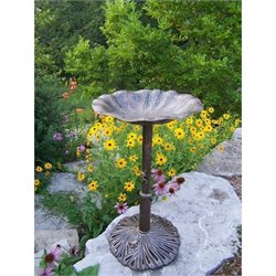 Oakland Living Lily Bird Bath in Antique Bronze