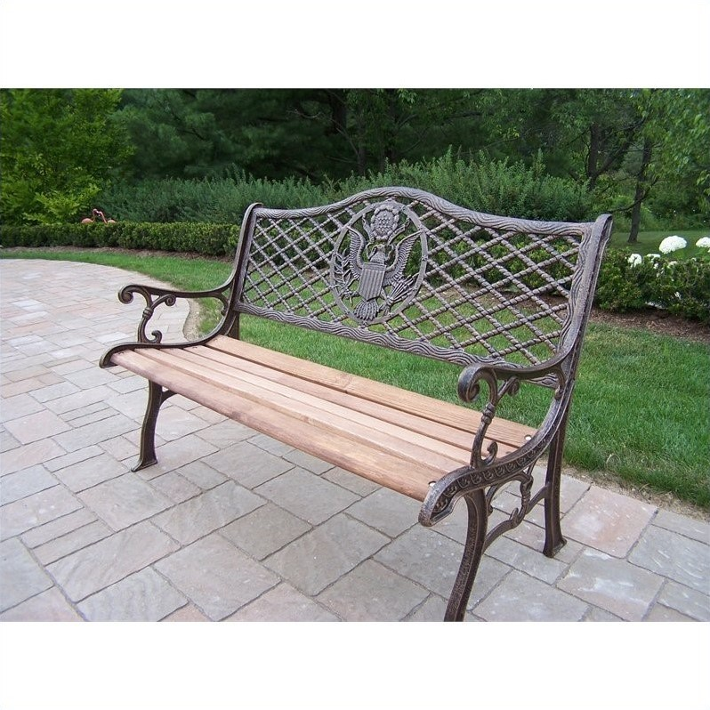 Oakland Living American Eagle Bench in Antique Bronze