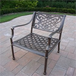 Oakland Living Tacoma Cast Aluminium Arm Chair in Antique Bronze