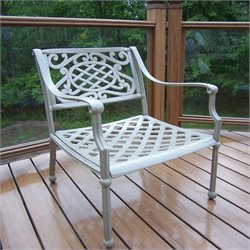 Oakland Living Tacoma Cast Aluminium Arm Chair in Beach Sand