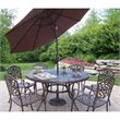Oakland Living Mississippi 7 Pc Dining Set with Umbrella and Stand