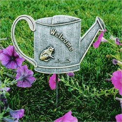 Oakland Living Garden Marker Welcome Frog in Antique Pewter