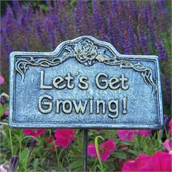 Oakland Living Garden Marker Lets Get Growing in Antique Pewter