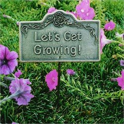 Oakland Living Garden Marker Lets Get Growing in Antique Bronze